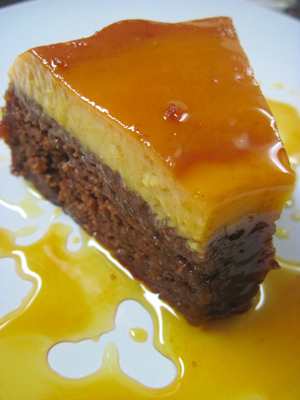 Date Nut Pudding Cake With Vanilla Sauce