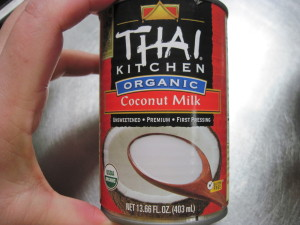 start with a can of full fat coconut milk