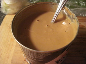 Buy tahini in a can or glass jar, www.goodfoodgourmet.com