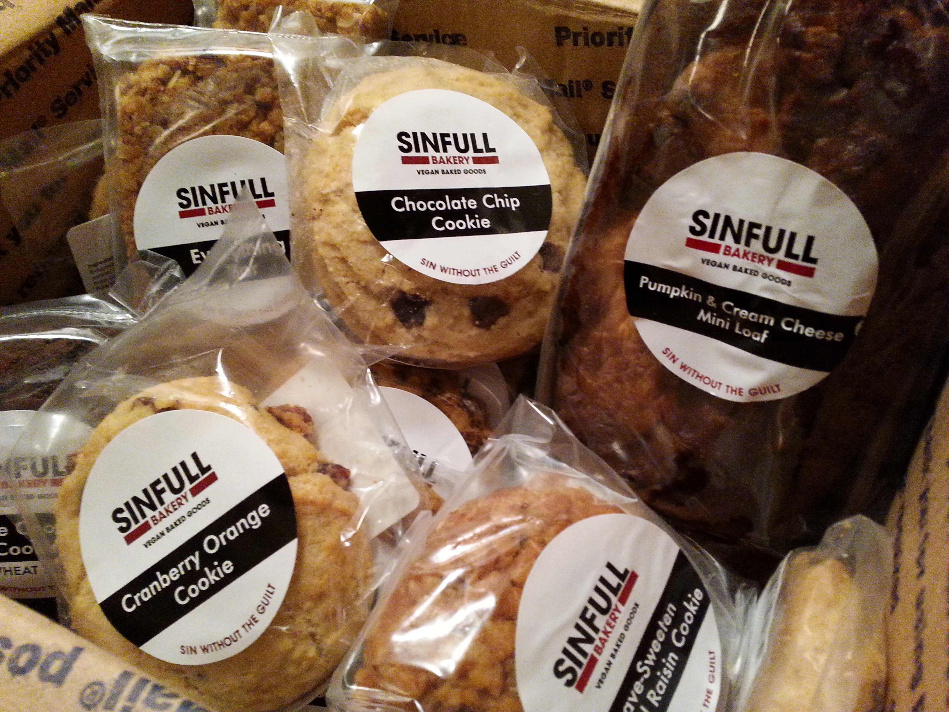 Package From Sinfull Bakery Www Goodfoodgourmet Com