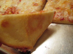 Thin crust pizza dough, www.goodfoodgourmet.com