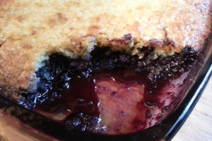 One Recipe, Two Desserts: Part 1 Perfectly Juicy Blueberry Cobbler. www.goodfoodgourmet.com