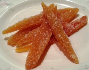 Honey Ridge Farms Cinnamon Honey Candied Orange Peel, www.goodfoodgourmet.com
